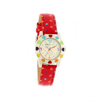 Montre Little Marcel LM31RDC - Montre Rouge Coeur Pois Enfant