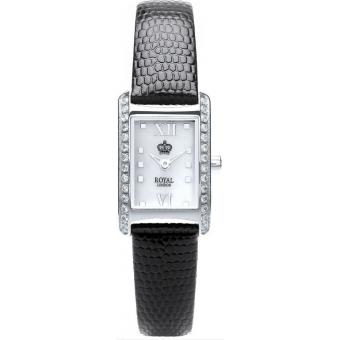 Montre Royal London 21167-01 - Montre Boîtier Rectangulaire Strass Femme