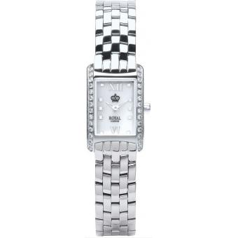 Montre Royal London 21167-05 - Montre Acier Strass Rectangulaire Femme