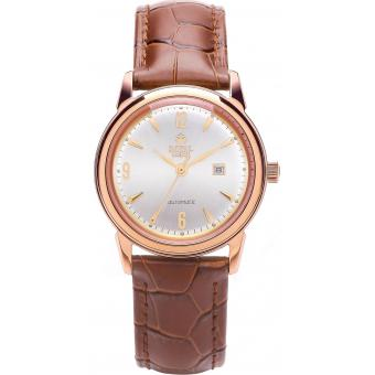 Montre Royal London 21174-03 - Montre Cuir Vieilli Or Rose Homme
