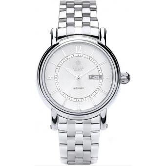 Montre Royal London 41149-07 - Montre Dateur Ronde Argent Homme