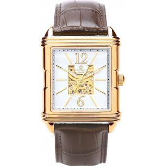 Montre Royal London 41169-01 - Montre Cuir Marron Rectangulaire Homme