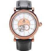 Montre Royal London 41172-03 - Montre Cuir Noire Or Rose Homme
