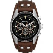 Montre Fossil CH2891 - Montre Chrono Cuir Marron Homme