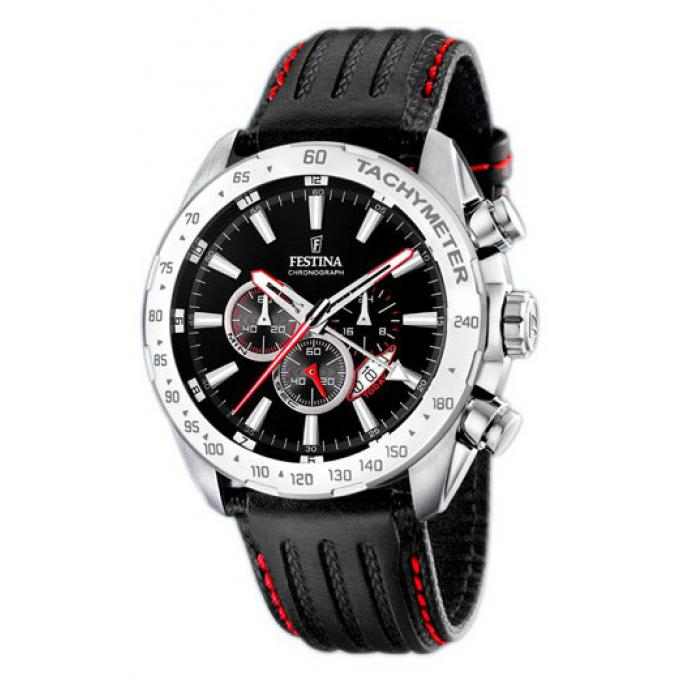 Montre Festina Cuir Chrono F16489-5 - Homme sur Bijourama - montre ... c60e7ce2544c