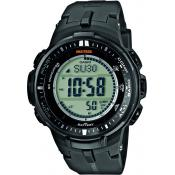 Montre Casio Pro Trek PRW-3000-1ER - Montre Sport Multifonctions Grise Mixte