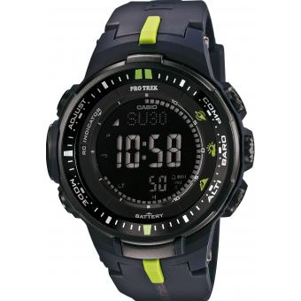 Montre Casio Pro Trek PRW-3000-2ER - Montre Sport Multifonctions Bicolore Mixte