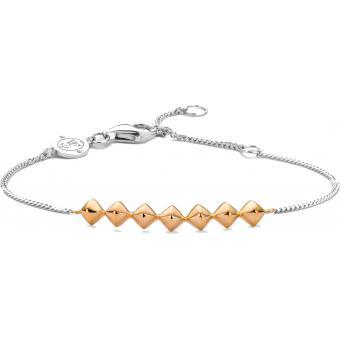Bracelet Argent et Plaqué Or Ti Sento - Bracelet Argent Or Mode Femme - Ti Sento
