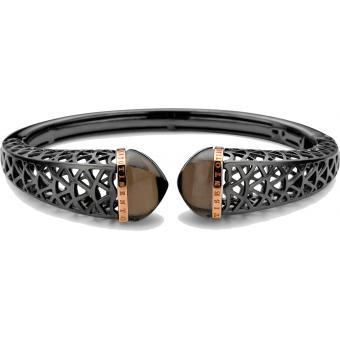 Bracelet Argent et Plaqué Or Ti Sento - Bracelet Noir Or Quartz Femme - Ti Sento