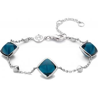 Bracelet Argent et Plaqué Or Ti Sento - Bracelet Argent Bleu Mode Femme - Ti Sento
