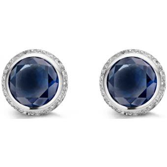 Boucle d'Oreilles Argent et Plaqué Or Ti Sento - Boucles d'oreilles Argent Bleues Zirconium - Ti Sento