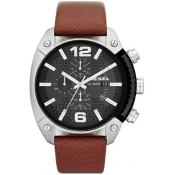 Montre Diesel DZ4296 - Montre Chrono Cuir Marron Homme
