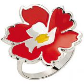 Bague Kenzo Bijoux Email Fleur Rouge 70193561101