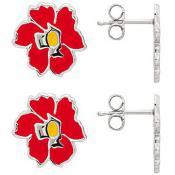 Boucles d'oreilles Kenzo Bijoux Email Fleur Rouge 70193511101