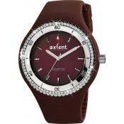 Montre Axcent IX15604-18 - Montre Ronde Marron Exotic Femme