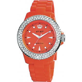 Montre Jet Set J12234-22 - Montre Ronde Orange Addiction Femme