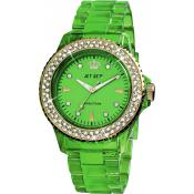 Montre Jet Set J12238-34 - Montre Ronde Verte Addiction Femme