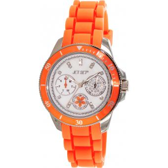 Montre Jet Set J50962-148 - Montre Ronde Orange Amsterdam Femme