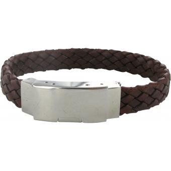 Bracelet Stahl Design 035895 - Bracelet Cuir Tressé Marron Homme