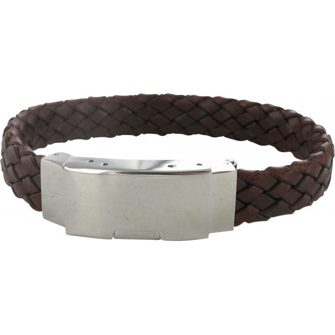 bracelet cuir magn tic tress pour homme chocolat pictures to pin on pinterest. Black Bedroom Furniture Sets. Home Design Ideas
