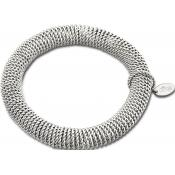Bracelet Lotus Style Bijoux Acier Mailles Argent LS1523-2-1