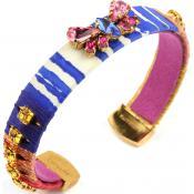 Bracelet Satellite Imprimé Multicolore VM28 - Rose