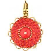 Boucles d'oreilles Satellite Fleur Rouge OA04DO