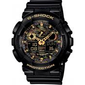 Montre Casio  G-Shock Militaire Noire GA-100CF-1A9ER - Homme