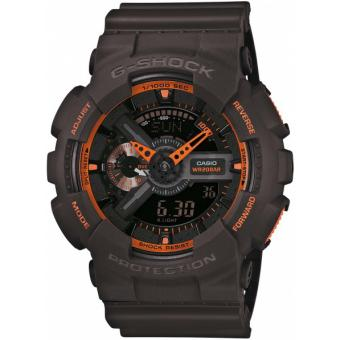 Montre Casio G-Shock GA-110TS-1A4ER - Montre Noire Orange Homme