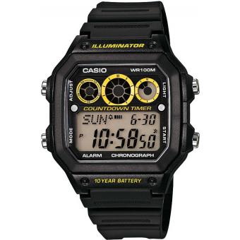 Montre Casio Collection AE-1300WH-1AVEF - Montre Illuminator Digitale Noire Homme