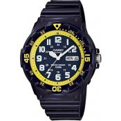 Montre Casio Collection MRW-200HC-2BVEF - Montre Etanche Bleue Jaune Homme