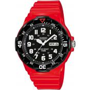 Montre Casio Etanche Noire Rouge MRW-200HC-4BVEF - Rouge