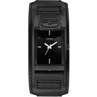 Montre Guess W0358G1 - Montre Cuir Noire Homme