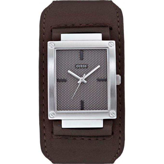 montre guess w0359g1 montre cuir marron homme sur bijourama montre homme pas cher en ligne. Black Bedroom Furniture Sets. Home Design Ideas
