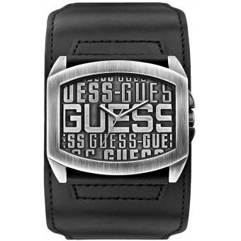 Montre Guess W0360G1 - Montre Cuir Noire Homme