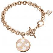 Bracelet Guess Bijoux Disque Or Rose UBB10417