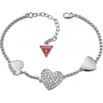 Bracelet Chaîne Multicoeurs Argentée - Guess - Guess