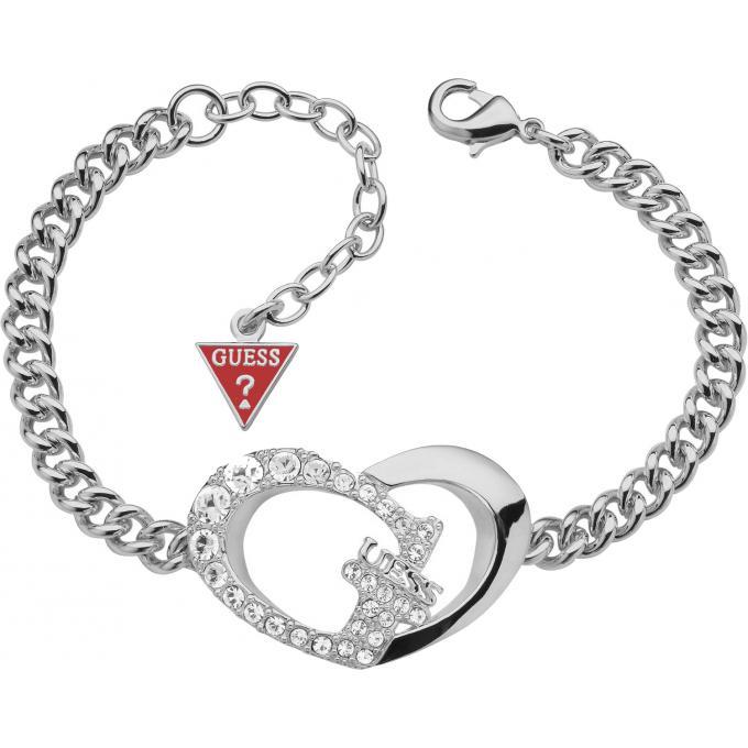 Bracelet Guess UBB11494 , Bracelet Motif Coeur Argent Femme