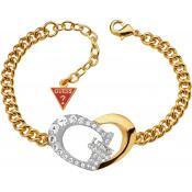 Bracelet Guess Bijoux Motif Coeur Doré UBB11495