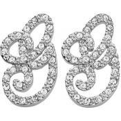 Boucles d'oreilles Logo Strass Argent - Guess