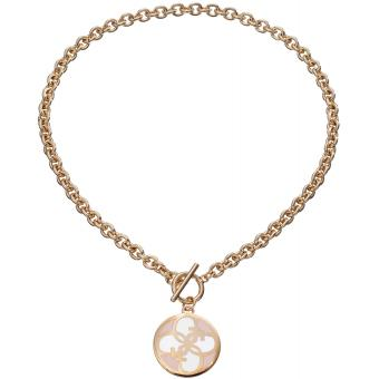 Collier et pendentif Guess UBN11470 - Collier et pendentif Breloque Ronde Dorée Femme