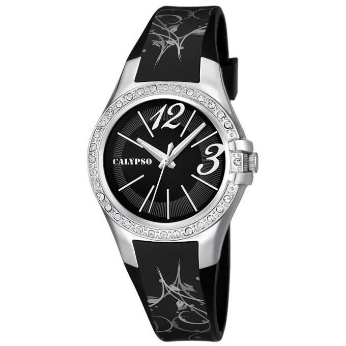 montre calypso k5624 3 montre ronde noire argent femme sur bijourama n 1 de la montre homme. Black Bedroom Furniture Sets. Home Design Ideas