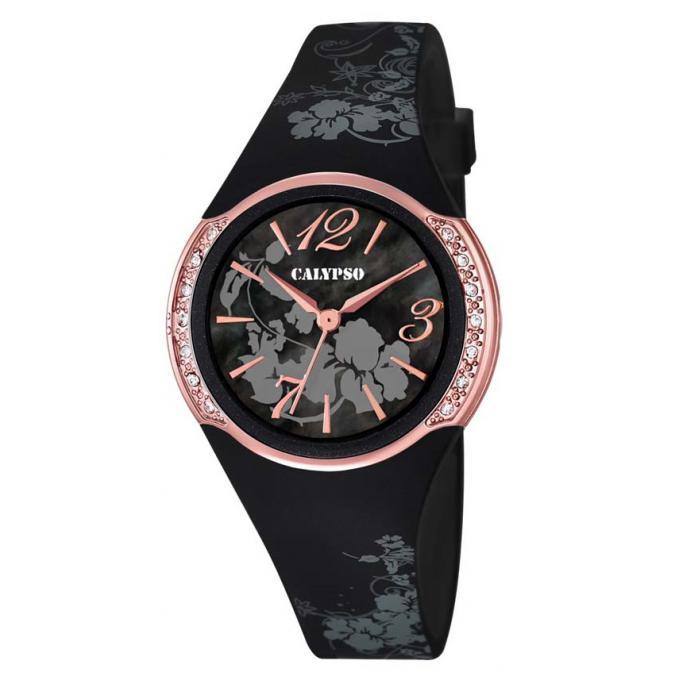 montre calypso k5639 4 montre or rose noire fille sur bijourama n 1 de la montre homme femme. Black Bedroom Furniture Sets. Home Design Ideas