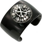 Bracelet Christian Lacroix Bijoux Manchette Baroque Noire X16200GZ
