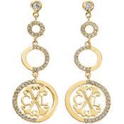 Boucles d'oreilles Christian Lacroix Bijoux Pendantes Cercles Dorées X36165DZ