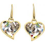 Boucles d'oreilles Christian Lacroix Bijoux Cœur Doré Papillons X36186DW