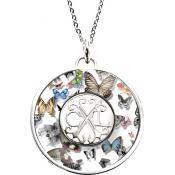 Collier et pendentif Christian Lacroix Bijoux Papillons Rond Argent X46189W