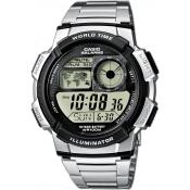 Montre Casio  Dateur Digitale Argent AE-1000WD-1AVEF