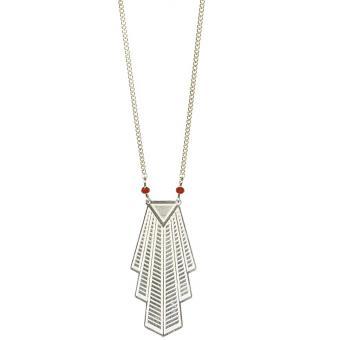 Collier et pendentif Rétro Perles Argent - Amélie Blaise - Amélie Blaise