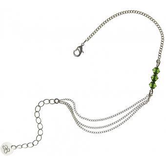 Bracelet Cristaux Swarovski Verts - Amélie Blaise - Amélie Blaise